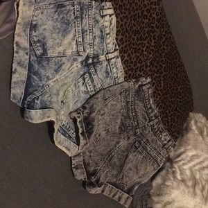 American Apparel Shorts - American Apparel High waisted Acid Wash Shorts